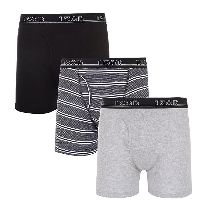 c0460c77be54 IZOD Mens 3 Pack Cotton Boxer Brief (Medium, Assorted (P10)) at Amazon Men's  Clothing store: