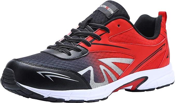 LARNMERN Zapatillas de Seguridad Hombres Zapatos de Trabajo