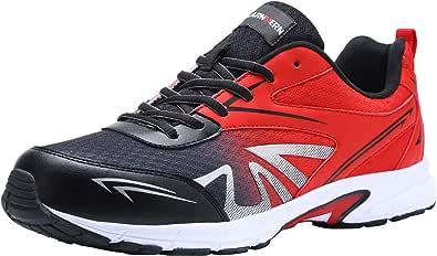 Zapatos de Seguridad Hombre Punta de Acero Anti-Deslizante Zapatos Ligero Zapatos de Trabajo Respirable Zapatos Reflexivo lm180105
