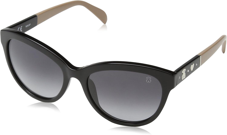 Tous STO909S540700 Gafas de sol, Shiny Black, 54 para Mujer