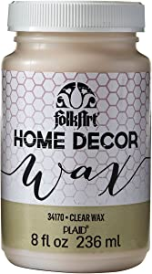 FolkArt Home Decor Chalk Furniture & Craft Paint in Assorted Colors, 8 ounce, Clear Wax