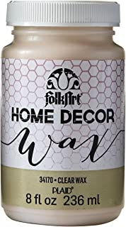 product image for FolkArt Home Decor Chalk Furniture & Craft Paint in Assorted Colors, 8 ounce, Clear Wax