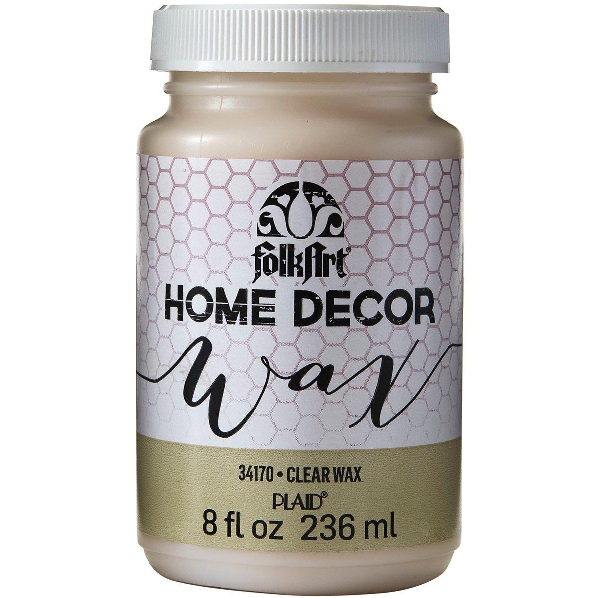 FolkArt Home Decor Wax (8-Ounce), 34170 Clear Plaid Inc decoart crayola painting