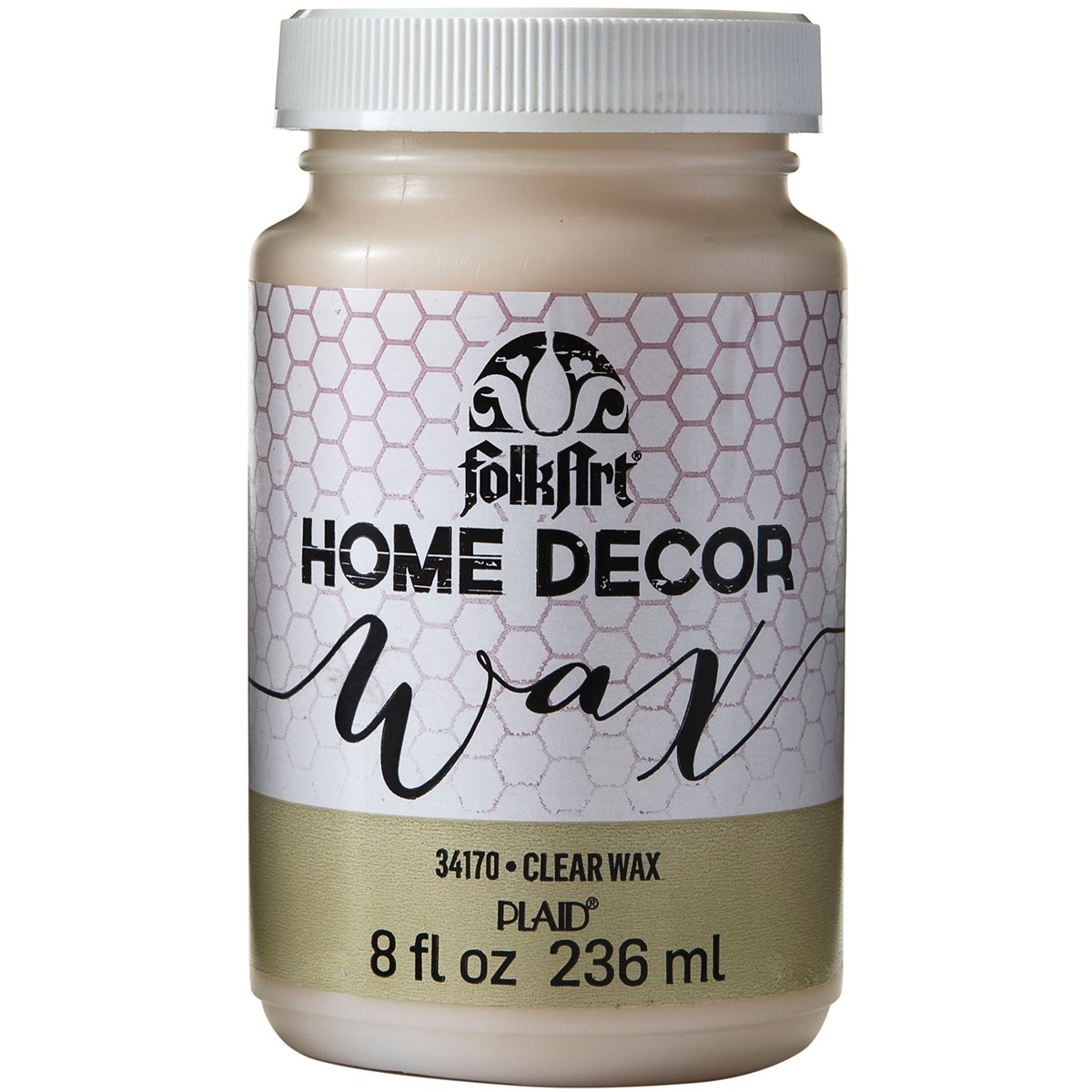 FolkArt 34170 Home Decor Chalk Furniture & Craft Paint in Assorted Colors, 8 ounce, Clear Wax by FolkArt