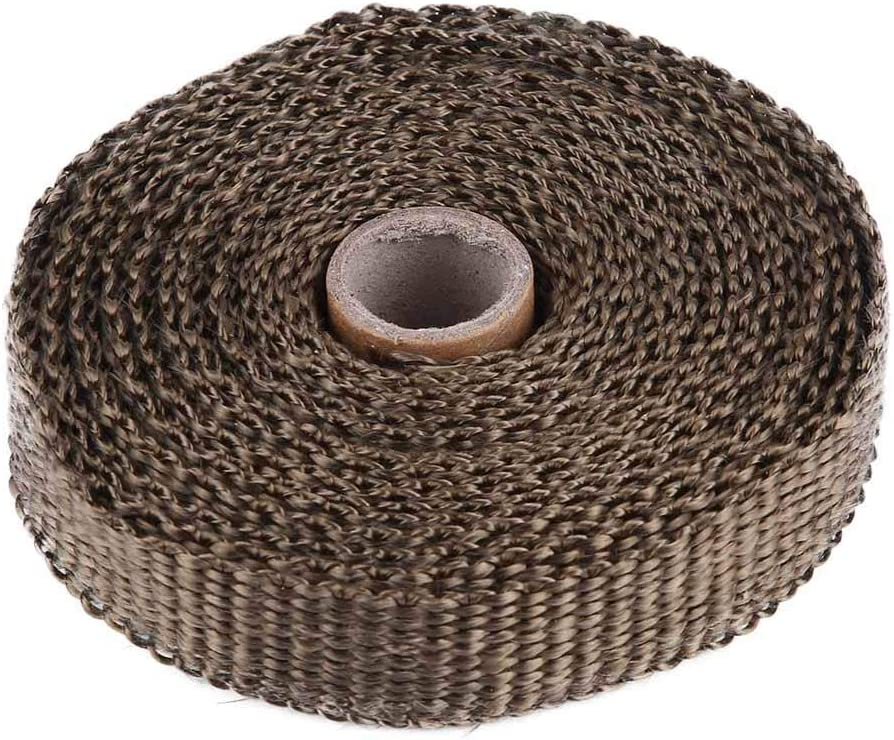Exhaust Heat Wrap 5m Car Insulation Tape Exhaust Heat Wrap with 4 Stainless Steel Cable Ties blue