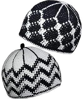 c5c855aa181 Set 2 Muslim Kufi Hat AMN112 Skull Cap Knit Beanie Islam Crochet Takke