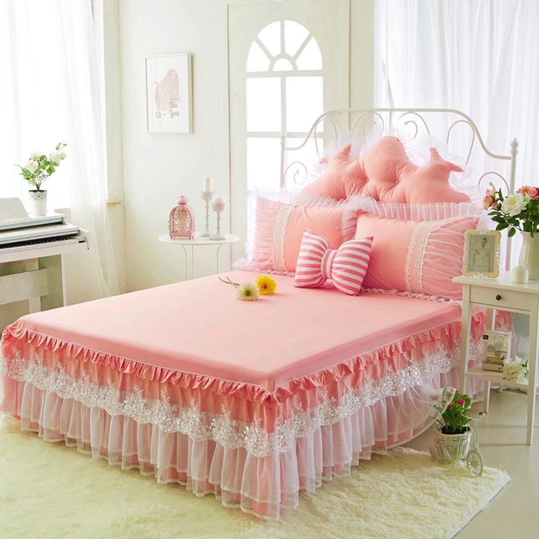 ベッドスカート ベッドスプレッド 3点セット ベッドカバー コットン おしゃれ ベッド掛け シンプル 寝具 シーツ EBODONG B078KH6NDJタイプ1 ベッドスプレッド(200*220cm)+ピローカバー(2枚)