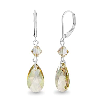 fbbac286b Image Unavailable. Image not available for. Color: Devin Rose Teardrop Briolette  Dangle Leverback Earrings for Women Made With Swarovski Crystals ...
