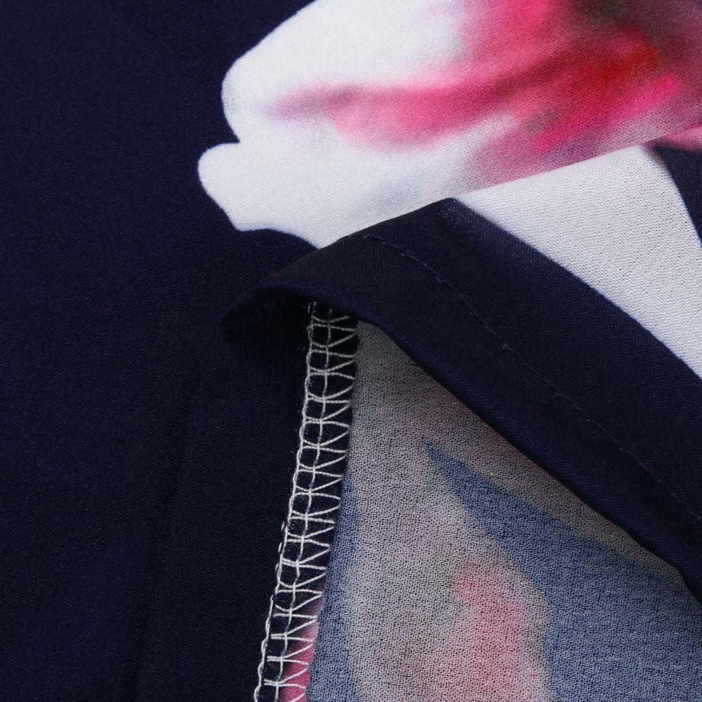 Kleid Damen Sommer Ulanda Teenager M/ädchen Boho Minikleid Elegant Blumenmuster Kurz Sommerkleid Strandkleid Partykleid Kurzarm Beil/äufig Freizeitkleid Frauen Abendkleid