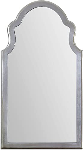 Gorgeous Extra Large Silver Shaped Arch Wall Mirror