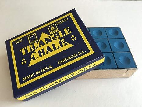 Triangle King of them all - Tiza para taco de billar, color azul, caja de ...