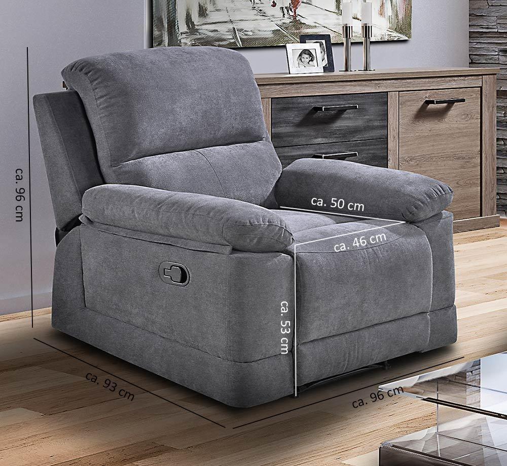 Gewaltig Polstergarnitur Mit Relaxfunktion Sammlung Von Lifestyle4living Couchgarnitur In Grau, Microfaser | Praktischer