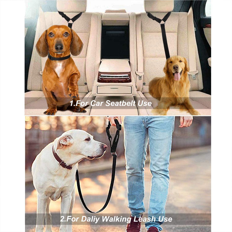 Nero per poggiatesta Media e Grande Regolabile Multifunzione CGBOOM Cintura di Sicurezza Universale per Cani per Cani di Piccola Taglia 2 Pezzi