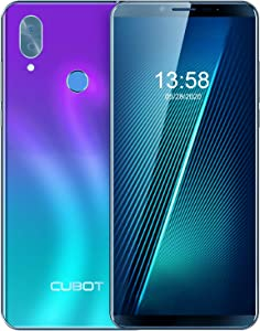 Unlocked Smartphone CUBOT X19 4GB RAM+64GB Cell Phone, 4000mAh, Dual 4G SIM, 5.93 inch FHD Display, Android 9.0 Pie, no Bloatware, AT&T and T-Mobile, Face ID, Fingerprint, Gradient