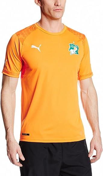 Puma Men's Ivory Coast Home Replica Soccer Jersey