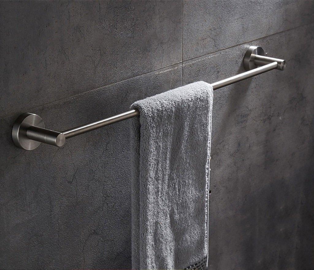 タオル棚/多機能タオルラックSUS304ステンレスタオル収納壁掛けバスタオルレール、バスルーム用シングルタオルバー タオル棚壁取り付け (サイズ さいず : 80センチメートル) B07D6RFJXG 80センチメートル 80センチメートル