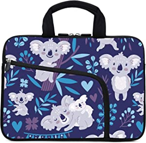 11.6 12 12.1 Inch Laptop Sleeve Carrying Bag Protective Case Neoprene Sleeve Tote Tablet Cover Notebook Briefcase Bag with Handle Extra Pockets for Women Men(Koala,12