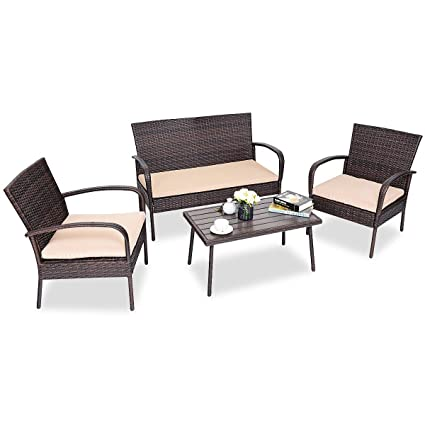 Amazon.com: LordBee - Juego de 4 piezas de sofá de mesa de ...