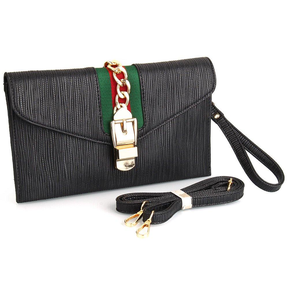 Vistatroy women designer clutch bag leather shoulder bag clutch purse for  wedding party handbags black kitchen f704e32ae0239