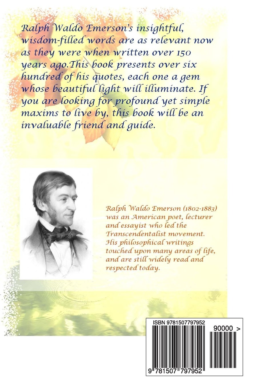 Buy Inspiration Wisdom From The Pen Of Ralph Waldo Emerson Over