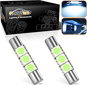 Amazon.com: Partsam Festoon 29mm 6614F LED Light Bulbs for ...