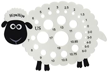 Sheep knitting needle gauge