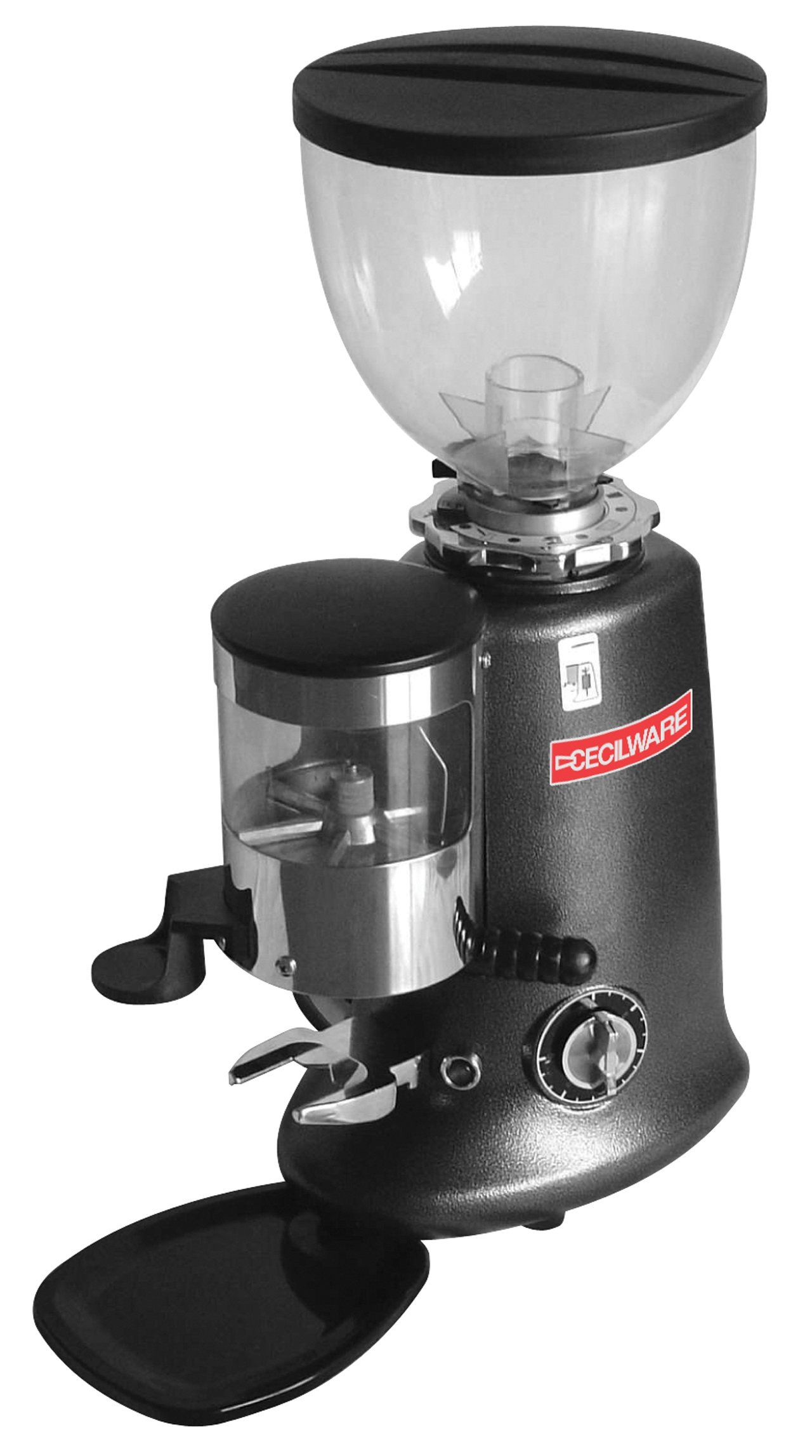 Grindmaster-Cecilware HC-600 Venezia II Espresso Grinder with Manual Timer, Grey and Stainless Steel