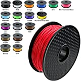 TIANSE Red PLA 3D Printer Filament 1 kg Spool 1.75 mm Dimensional Accuracy +/- 0.03 mm