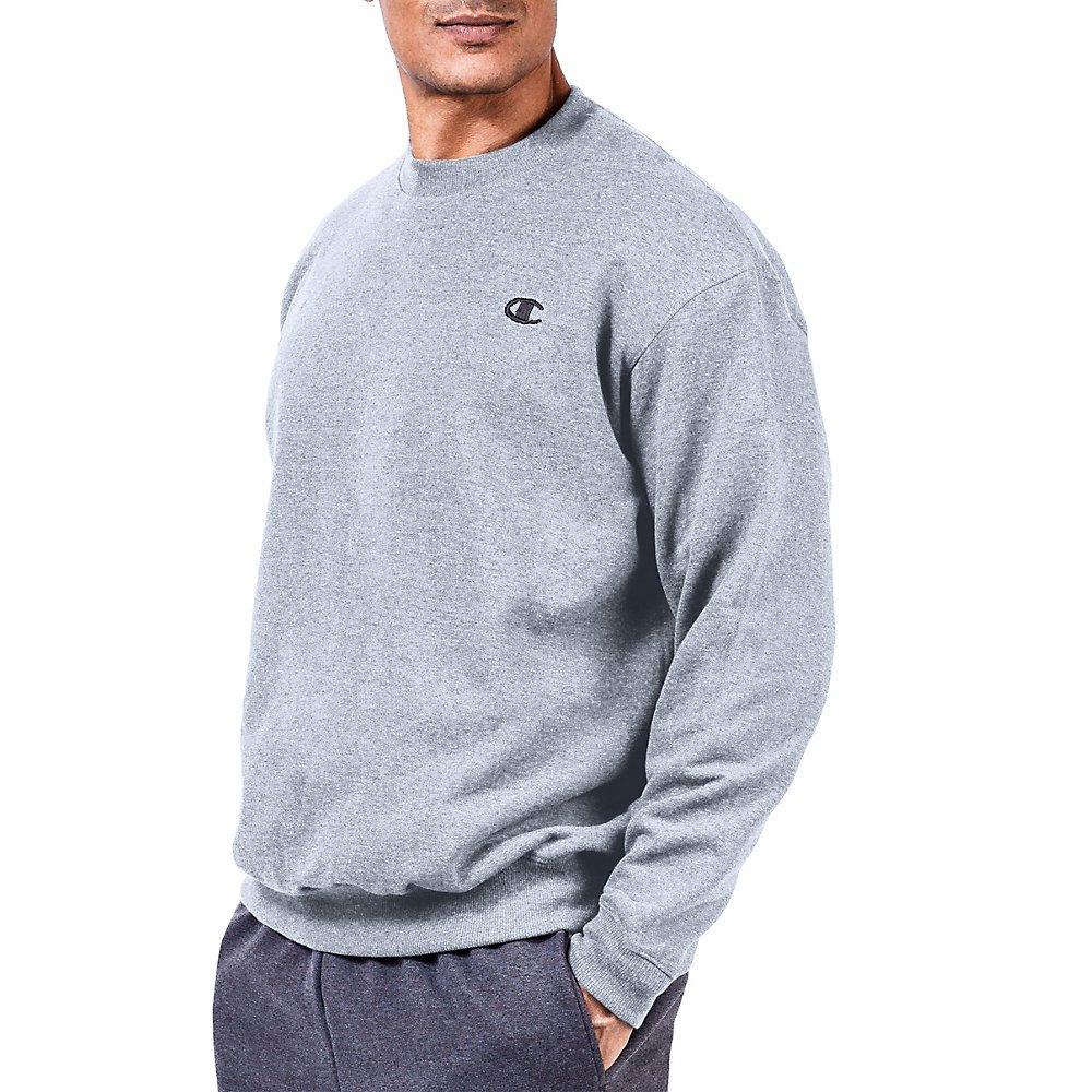 Heather Grey 6XL Champion Big & Tall Men's Fleece Sweatshirt
