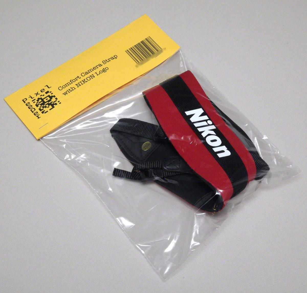 Pixel Peeper Courroie en n/éopr/ène tr/ès confortable de taille r/églable avec logo Nikon pour appareils photo Reflex et grands appareils compacts