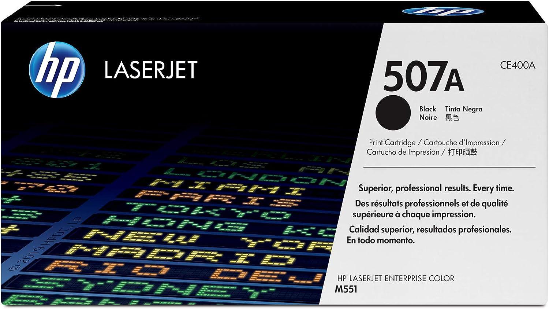 HP 507A | CE400A | Toner Cartridge | Black, One Size
