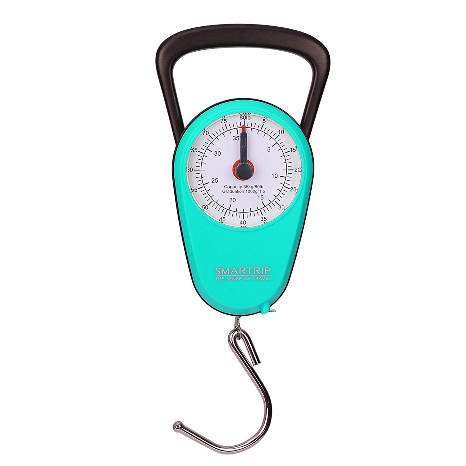 AccuDial No Batteries Accurate Easy Reading Analog Compact Handheld Luggage Scales