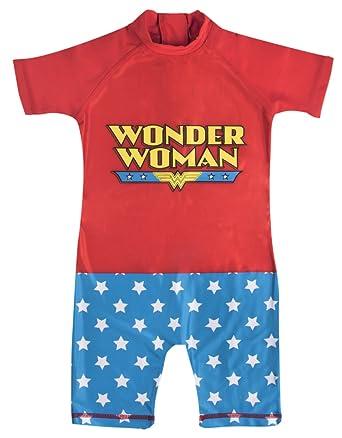 Lora Dora - Traje de una Pieza - para niña Rojo Wonder Woman 2-3 ...
