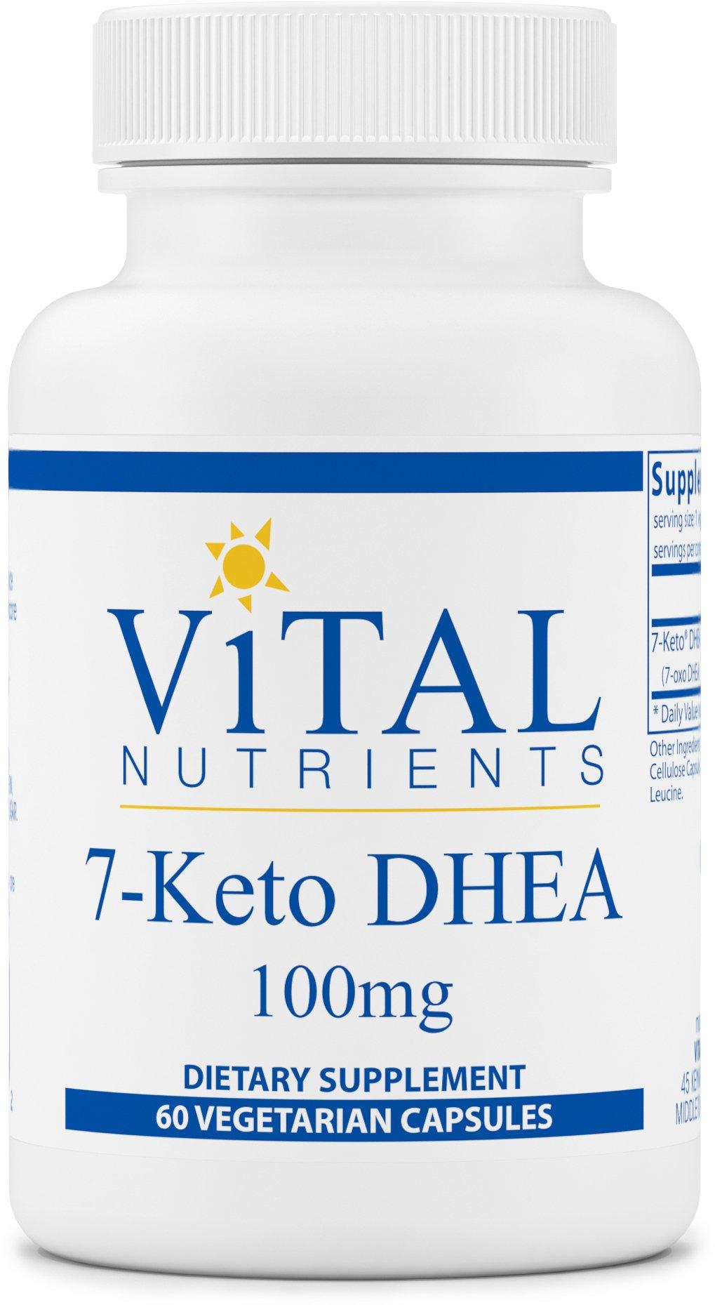 Vital Nutrients - 7-Keto DHEA 100 mg - Natural Metabolite Promoting Healthy RMR - 60 Capsules