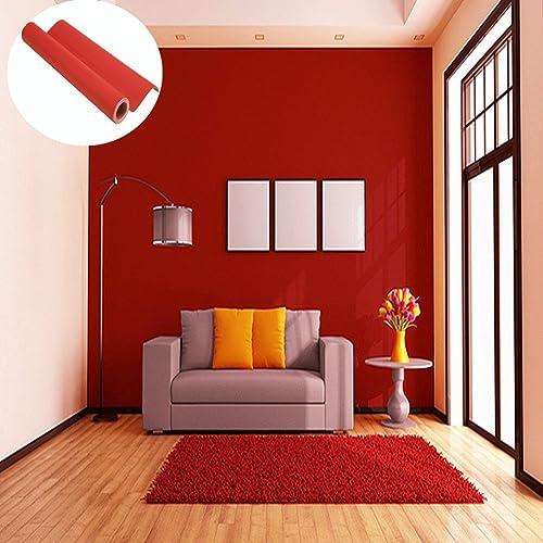Papier Peint Rouge Amazon Fr