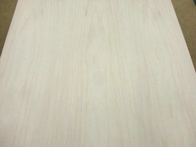 Maple Wood Veneer Plain Sliced 2x8 PSA 9505 Peel and Stick Natural Finish Sheet