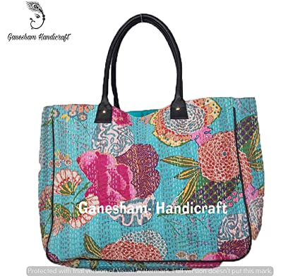 Amazon.com: Bolsas indias de playa bohemias hechas a mano ...