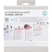 We R Memory Keepers Lifestyle Letterpress Plates, Floral Invite