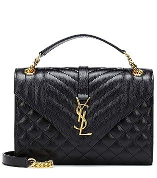 b873378d0fe Amazon.com: France YSL Women's Monogram Envelope classic leather ...