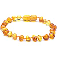 Genuine Baltic Amber Bracelet - Polished Honey Color Anklet - 100% Authentic Baltic Amber - Handmade Jewelry