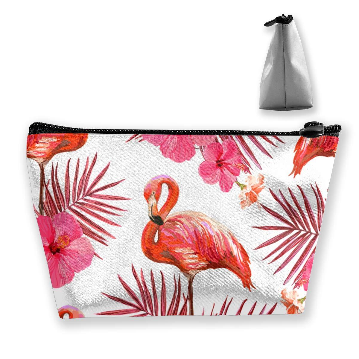 3a652046b965 Amazon.com: Palm Leaves,Flamingo Pattern Travel Makeup Bag ...