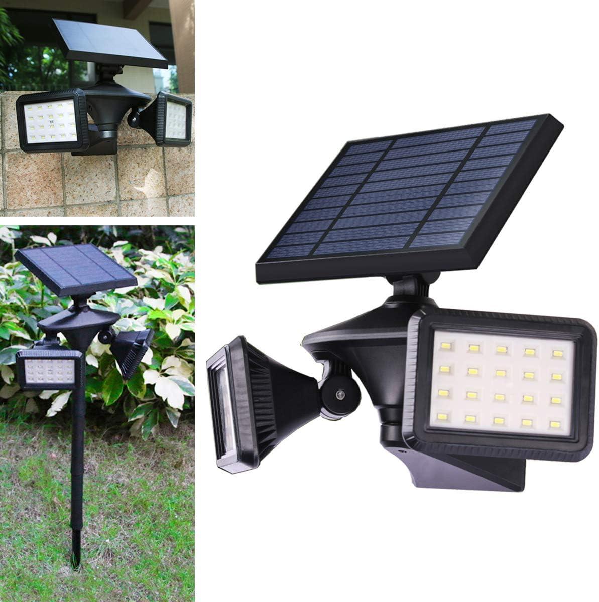 Solar Lights Outdoor, Motion Sensor Solar Flood Lights, Dusk to Dawn Landscape Spotlights, Wireless Security Lights 6500K, 2-in-1 for Garden Driveway Porch Path Solar Powered Lighting, EMANER