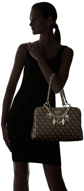 419fbd01414 Guess Affair Girlfriend Satchel Brown  Amazon.fr  Chaussures et Sacs
