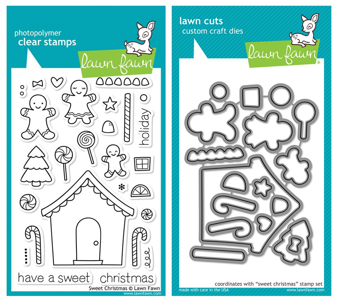 Lawn Fawn ''Sweet Christmas'' Clear Stamp and Die Set by Lawn Fawn