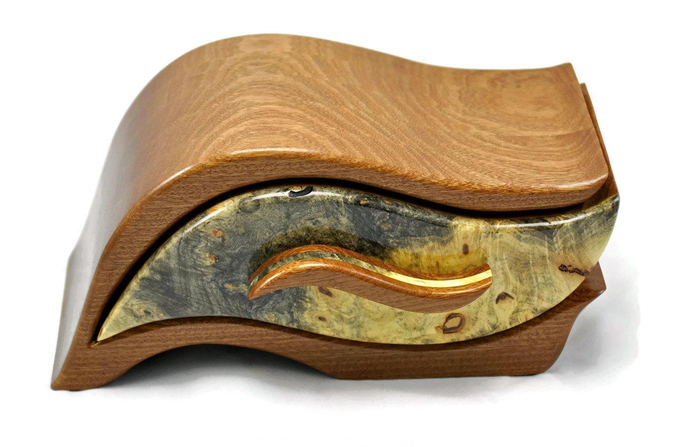 Jewelry Box in African Sapele & Buckeye Burl