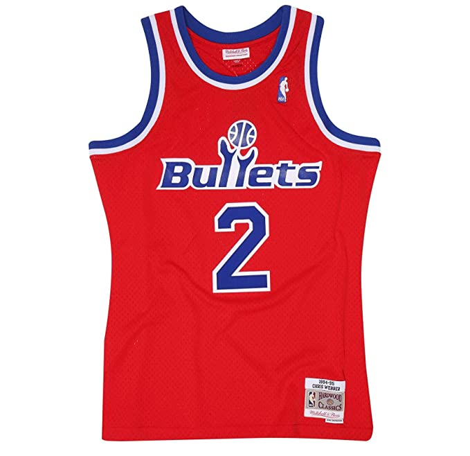 Mitchell & Ness Chris Webber 1994-95 Road Swingman Jersey (Washington Bullets), Camiseta de Juego para Hombre: Amazon.es: Ropa y accesorios