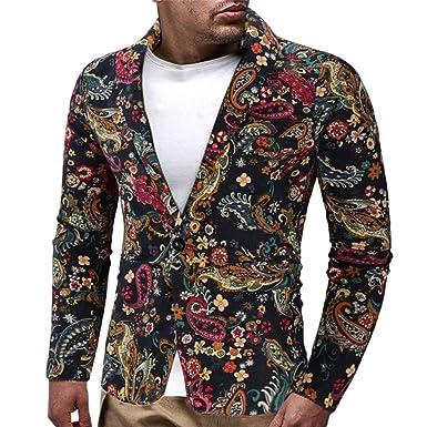 Blazer Vintage para Hombres Vestido para Hombre Traje Floral ...