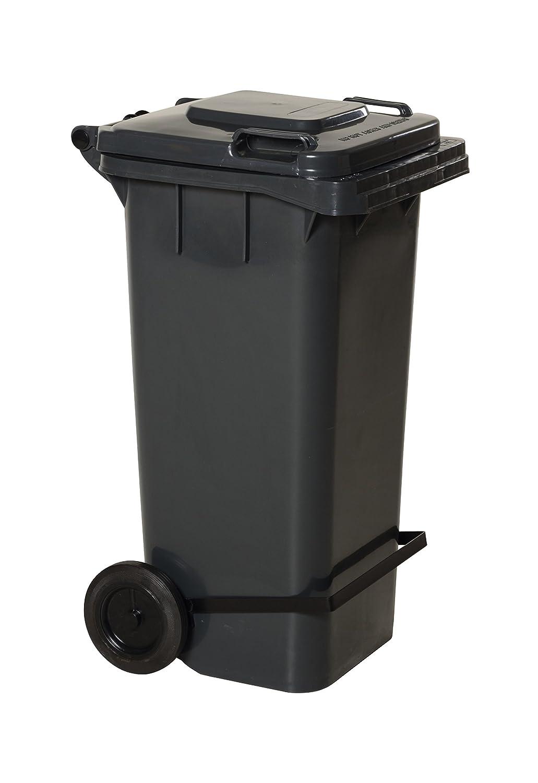 22 Depth Capacity 18.75 Width 32 lb Gray 38 Height HDPE Vestil TH-32-GY-FL Trash Can with Foot Lid Lift High Density Polyethylene 21.81 Length