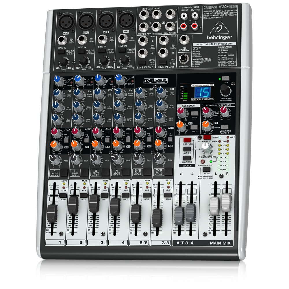 Behringer Xenyx X1204USB Mixer Professionale con Processore Effetti e Interfaccia Audio e USB MUSIC Group