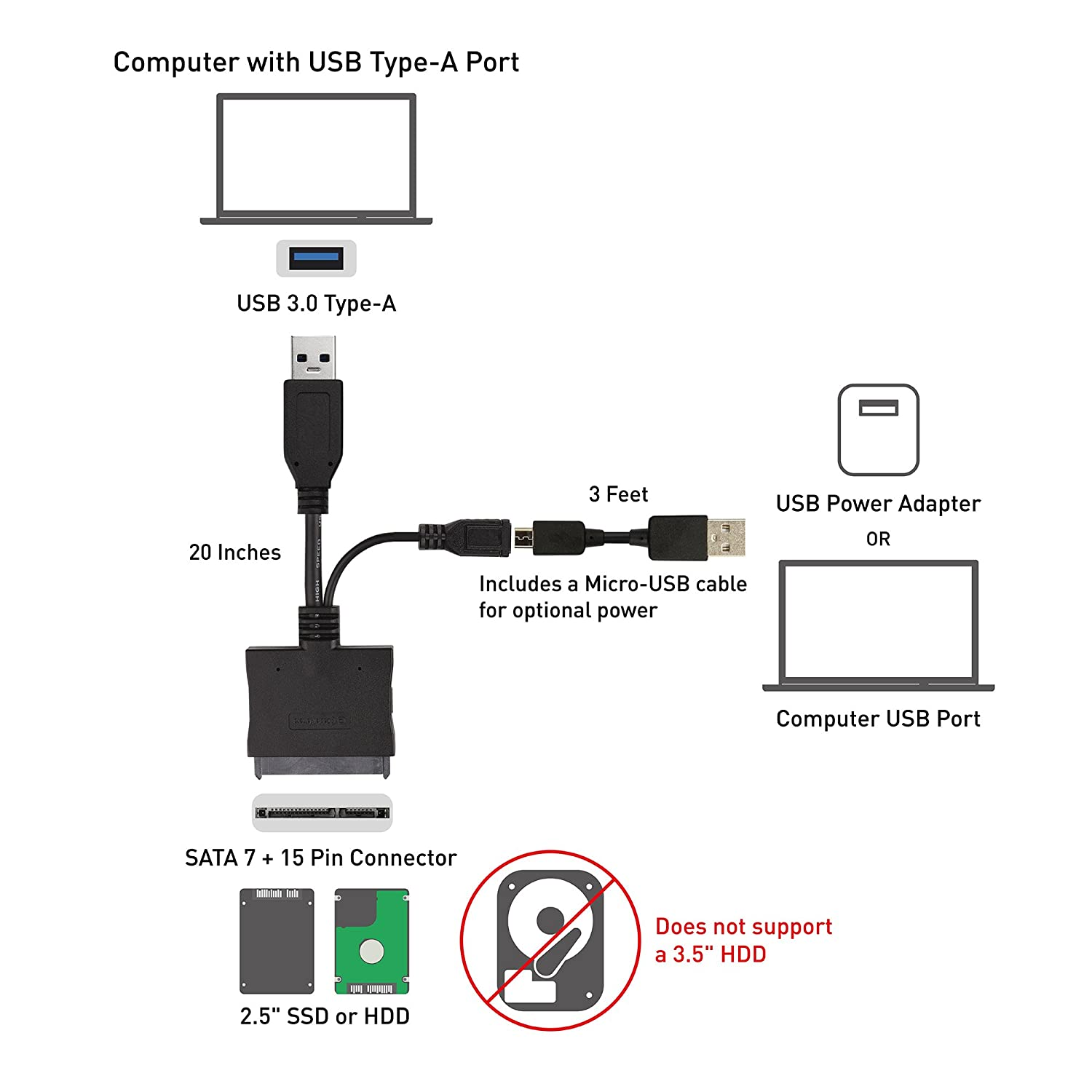 71oYh 0LBRL._SL1500_ amazon com cable matters usb 3 0 to sata iii 2 5\